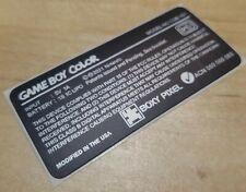 1  Nintendo Game Boy Color CGB-101 BOXY PIXEL EDITION Console Label