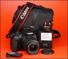 Canon EOS 700D DSLR Telecamera + Canon-S 18-55mm EF ZOOM LENS KIT +1080p HD Video