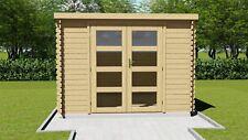 Agande Gartenhaus Blockhaus Gerätehaus Holz 300x240, 28 mm, 2839234