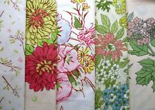 Lot of 5 Pastel Floral Vintage Retro Pillowcases