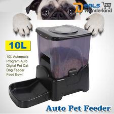 10L Automatic Program Auto Digital Pet Cat Dog Feeder Food Bowl Dispenser