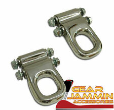Hummer H2 Stainless Steel Front Tow Hooks Chrome Finish