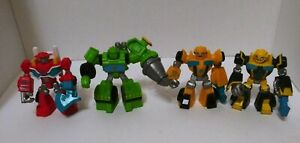 Transformers Playskool Rescue Bots Optimus,Bumblebee & Bots Figures Lot # 4