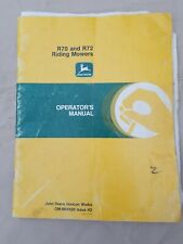 John Deere R70- R72 Riding Mower -Owner Operator Manual Om-M86426 issue H3