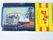 VINTAGE ROAD TRAIN CALTEX TRUCK-STOP COBAR SOUVENIR PATCH WOVEN CLOTH SEW BADGE