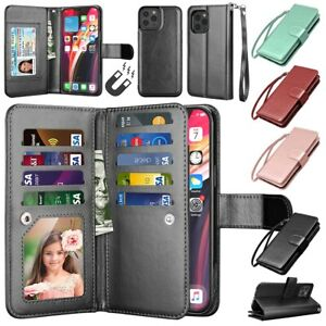 For iPhone 12 11 Pro XR XS Max X SE 2020 7 8 Wallet Case Flip Leather Card Cover