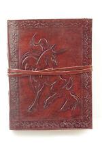 Lederbuch Tagebuch Notizbuch Kladde handlich Einhorn 064c