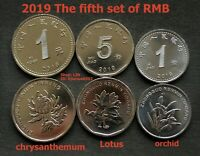 2019 CHINA CHINESE Set 3 Coins 1+5 JIAO +1 Yuan The fifth set of RMB Currency