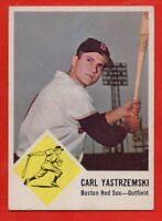 1963 Fleer #8 Carl Yastrzemski EX/EX WRINKLE HOF Boston Red Sox FREE SHIPPING
