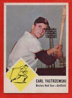 1963 Fleer #8 Carl Yastrzemski EX/EX WRINKLE HOF Boston Red Sox FREE SHIPPING