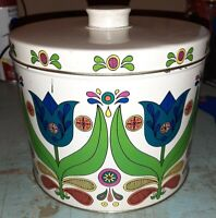 Vintage HomeStyle Cooking Cake Powder Cookies Tin Counter Jar Retro