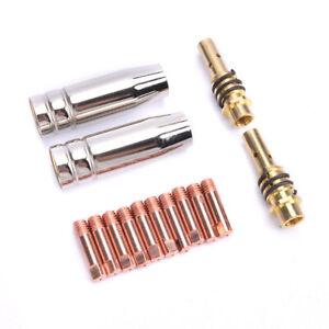 14Pcs 15AK Welding Torch Consumables 0.6/0.8/1.0/1.2mm MIG Torch Nozzle HoldRI