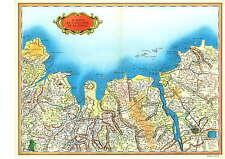 Reproduction Carte de Cassini St Malo et l'estuaire de la Rance Ille et Vilaine