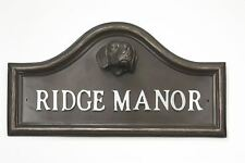 Bronze Finish Beagle Dog Arched House Name Plaque
