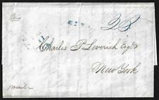 US 1842 NEW ORLEANS LETTER PAID 20¢ TO NY REF THE SHIP ORLEANS REPAIRING DAMAGE