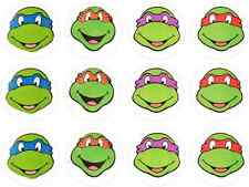 12 PRECUT Teenage Mutant Ninja Turtles TMNT Edible Wafer Cupcake Toppers