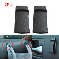 2PCS Black Car Interior Leather Clips Holder Sticker For Card Glasses Handbags