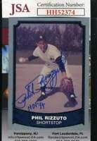 Phil Rizzuto 1990 Pacific JSA Coa Autograph Authentic Hand Signed