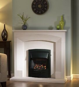 Gas Fire, Natural Gas, Slide Controlled, Open Fronted Fire, Black Frame and Fret