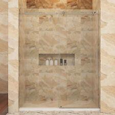 """SUNNY SHOWER Fully Frameless Sliding Shower Doors 60"""" W x 79"""" H Heavy Glass 3/8"""""""