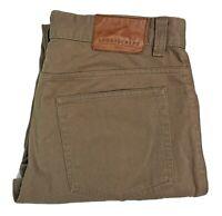 Sportscraft Brown Mens Trousers Pants Size 32 Stretch Cotton