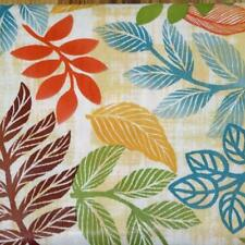 52x70 Oblong~Vinyl Flannel Back Tablecloth~Tropical Leaves Harvest~New w/Tags