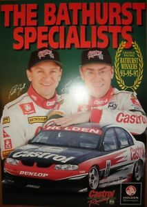 Castrol Racing 'The Bathurst Specialists' 93 95 97 Poster Signed Perkins Ingall
