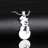 SNOWMAN Mother and Child Winter Sledding Holiday Porcelain Cameo Goldtone Locket Necklace Pendant /& 24 Inch Chain for Christmas Gift