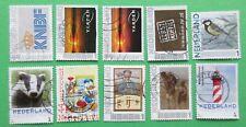 Nederland 10 verschillende persoonlijke postzegels setje 8 gestempeld