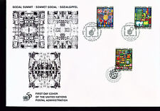 1995 Large Combo UN FDC - All 3 Offices on One Cover - Social Summit