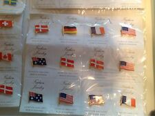 48 Individual Flags Pins High Quality Pins On Cards Fashion Jewelry New In Pack!