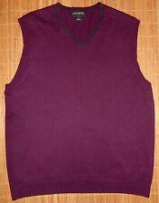 Mens L Banana Republic Sweater Vest Purple Cotton