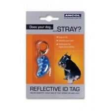 BRAND NEW Ancol Dog Tag Reflective Bone Stylish ID Tag For Dogs