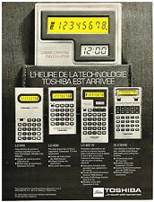 PUBLICITE ADVERSTISING   1977   TOSHIBA    calculatrice