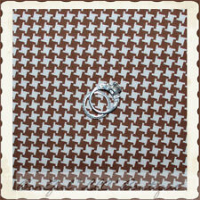 BonEful Fabric FQ Cotton Quilt Brown Cream Check Hounds*tooth Cat Horse Gingham