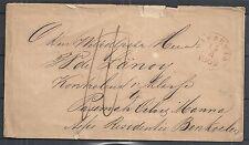 Netherland Indies 1869 cover MAKASSAR to BENKOELEN