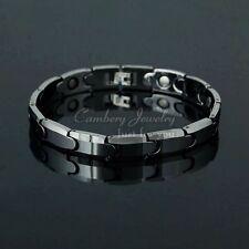 Silver Tungsten Carbide Men Bracelet Energy Magnetic Stone bracelet TS07 on sale