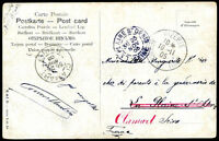 FRANCE TUNISIA TO FRANCE Re-sent Postcard 1905 VF