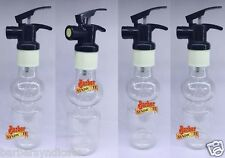 4XTravel Empty Transparent Plastic Spray Bottle Water Perfume Atomizer Container