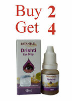 Patanjali Drishti Eye Drops Herbal Natural Ayurvedic 10ml/0.3oz BUY 2 GET 4