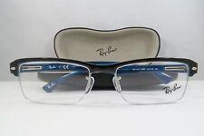 Ray-Ban RB 7014 5068 Semi-Rim Tortoise/Blue New Authentic Eyeglasses 54mm w/Case