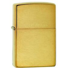 Zippo Brushed Brass Lighter w/ Solid Brass Engraved 204