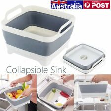 AU Collapsible Sink Dish Drainer Dish Wash Tub Space Saving Caravan Boat Camping