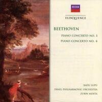 BEETHOVEN Piano Concertos No. 1 and 4 CD NEW Decca Eloquence Radu Lupu/Mehta