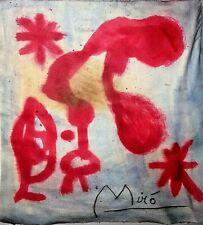 Drawing watercolor signed MIRO'