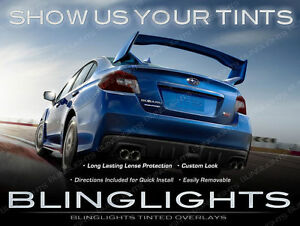 Murdered Out Taillight Overlays Kit Tinted Lense Protection for Subaru Impreza