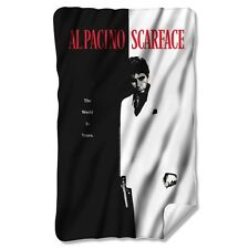 """Scarface Movie Poster Licensed Fleece Throw Blanket 30"""" X 60"""""""