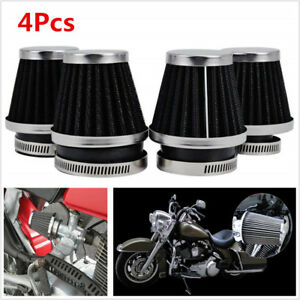 4X 42mm Universal Tapered Pod Air Filters Cleaner For Motorcycle ATV Cafe Racer