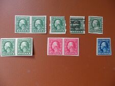 Stamps :  USA Imperf Types 126,128, 1908+ .