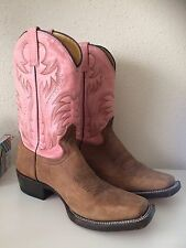 Boots Womens Size 8 Rockin Leather Cowboy Boots